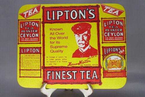 """Vintage Lipton Tea Bristolware 6.5"""" by 8.25"""" Sign"""