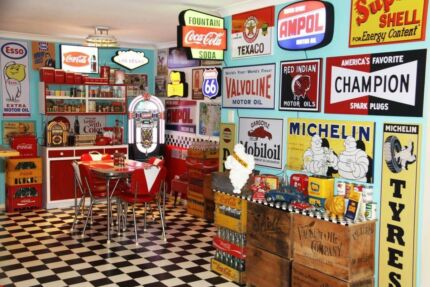 Retro Man Cave Collection for Sale , Bar, Garage & Diner