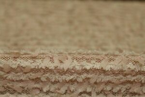 Shabby Chic Candlewick Type Knit Dress Fabric Material (Light Sandy Beige)