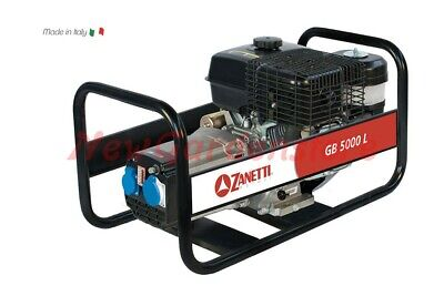 Generador Corriente Eléctrico Gasolina Zanetti GB5000L 5kVA 230V Portátil