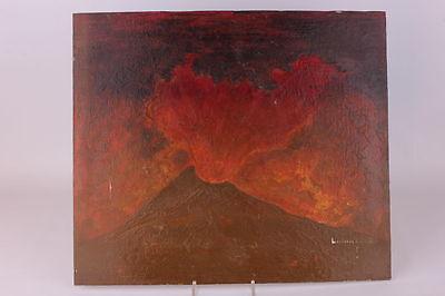 Eruption Vulkanausbruch Ölgemälde
