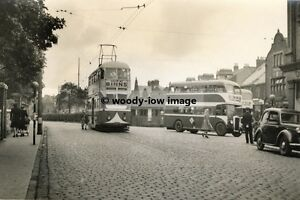 a0130 - Sunderland Tram and buses by Post Office - photograph