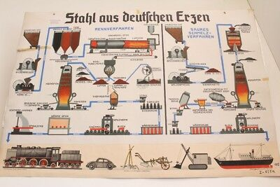 Schulwandtafel Wall Chart Steel From German Erzen Culture Publisher Trabert Bug