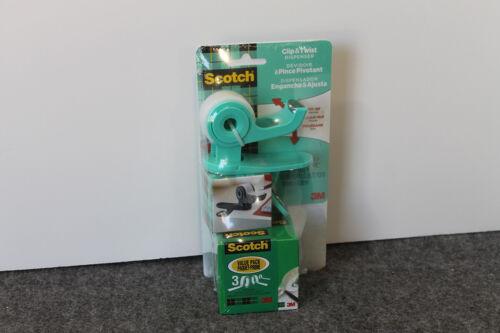Scotch Clip & Twist Refillable Tape Dispenser Value pack - Green