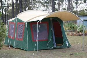 JACKAROO TWO ROOM FAMILY CANVAS & POLE TENT 5.4 m L x 3 W x 2.2 H Grafton Clarence Valley Preview