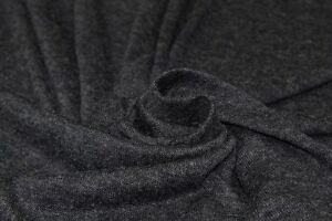 Lightweight Plain Loose Wool Type Knit Dress Fabric Material (Dark Greyish Navy)