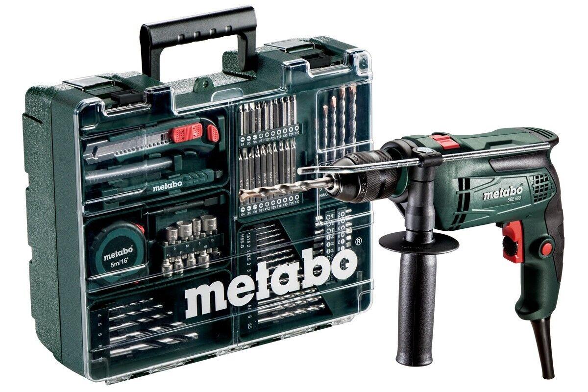 Metabo Schlagbohrmaschine SBE 650 Set Mobile Werkstatt im Koffer mit Zubehör-Set