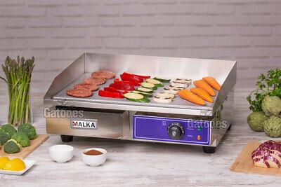Plancha Eléctrica de Cocina Profesional Malka. Ancho 55 cm