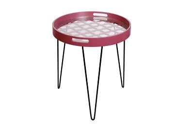 Moderner Runder Schrank (Tische Nachtschrank Moderner Beisteltisch Rot Handgefertigt In Runder Form)