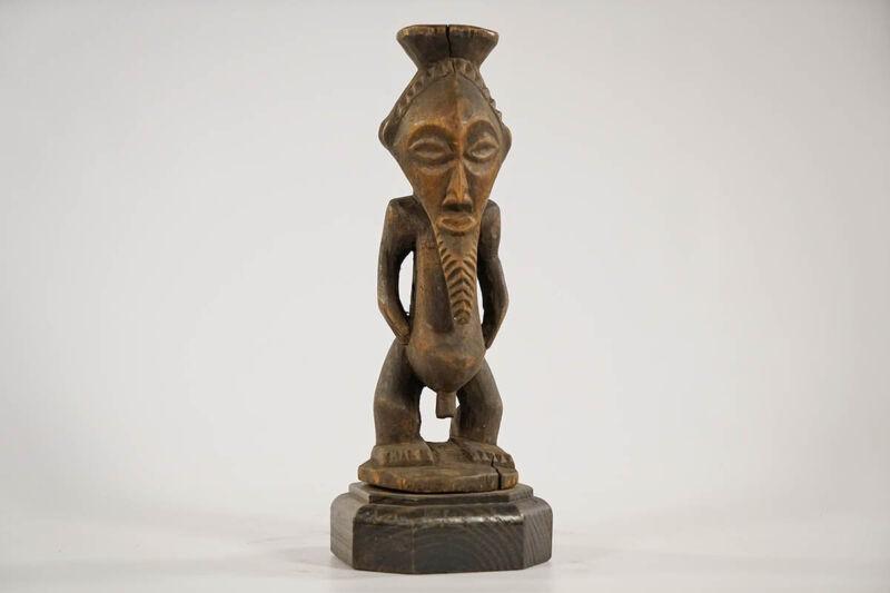 "Mini Songye Figure 11"" on Custom Base | DRC | African Art"