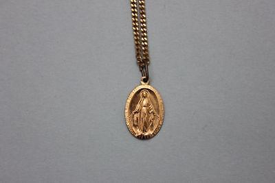 Vergoldete Kette mit religiösem Anhänger Maria