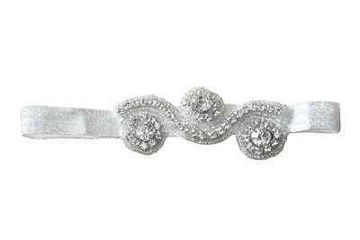 Crystal Rhinestone Baby Headband, Crystal Baby Girls Wedding, Baby PhotoShoot for sale  Shipping to India