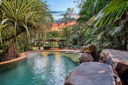 5 Acre property, est 4 b/r home, sheds & resort pool.