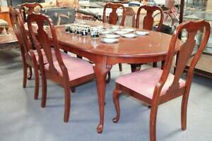 Dining Table with a Set of Six matching Dining Chairs