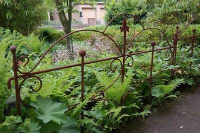 Stilvolles Zaunelement Eisen Zaun rost 87 cm MARSEILLE Gartenzaun