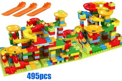 495pcs Roller Coaster Construction Building Block Small Size Marble Run Set Toy](Marble Building Set)