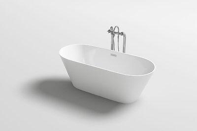 "1001NOW Stunning Lugano 60"" Freestanding White Acrylic Seamless Bathtub"
