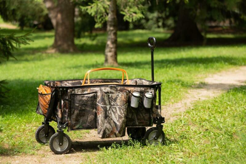 Ozark Trail Quad-Folding Wagon with Telescoping Handle, Camo