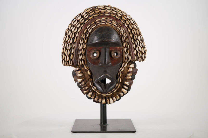 "Ornate Dan Guere Mask 13"" - Ivory Coast - African Art"
