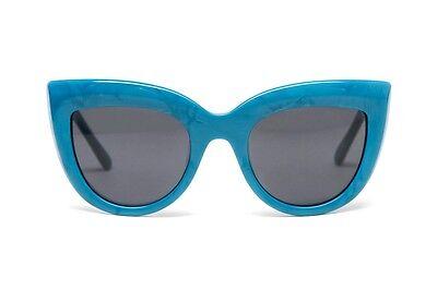 2014 NWOT WOMENS SABRE RUNAWAY BLUE PEARL SUNGLASSES GREY LENS $100
