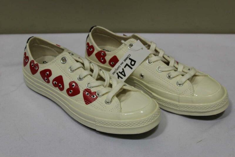 Converse Comme des Garcons Play Men's 6 / Women's 8 Shoe Multi Heart Low Cream