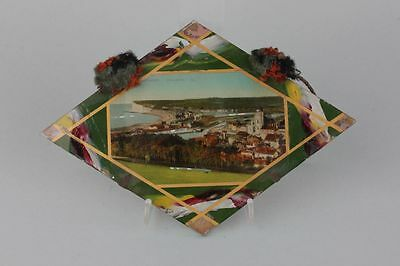 Souvenir de Treport-Mers  Hinterglasansicht, um 1900