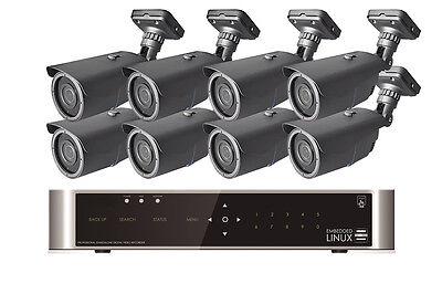 FULL HD Videoüberwachung SET 8 Kameras 1080P 8Kanal DVR Internet Netzwerk Motion