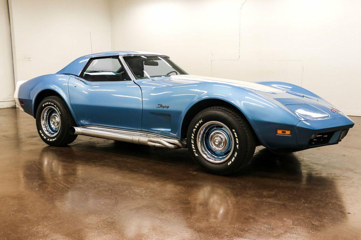 1974 Blue Chevrolet Corvette     C3 Corvette Photo 2