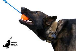 Nero Ball CLASSIC Rubber Dog Training Ball On A Rope - Police K-9 - Schutzhund