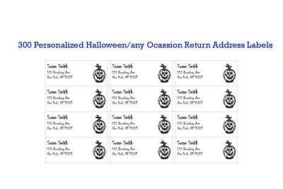 300 Custom Printed Large Halloween Return Address Labels 1 X 2-58