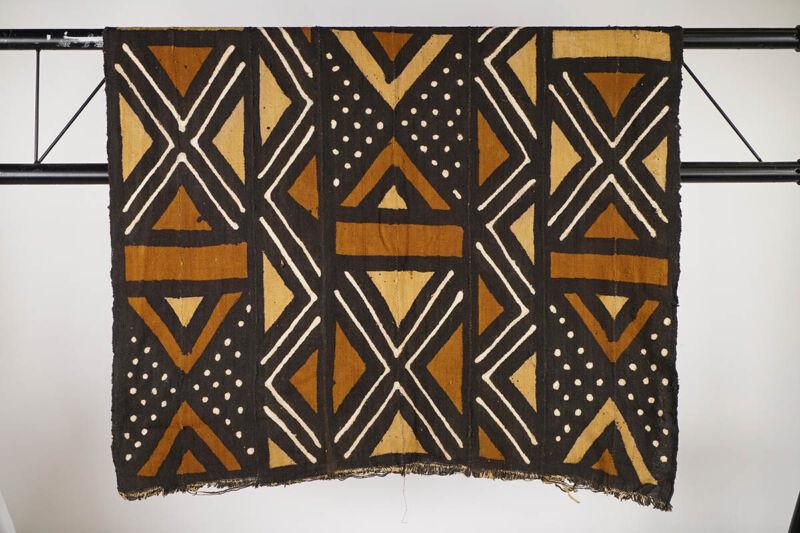 """Bamana Multi-Pattern Mud Cloth 64"""" x 39"""" - Mali - African Art"""