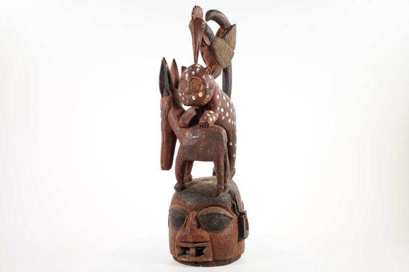 """Yoruba Zoomorphic Epa Mask 28"""" - Nigeria - African Art"""