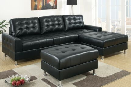 Brand New Retro Look Bonded Leather Corner Sofa from $1099 Bayswater Bayswater Area Preview