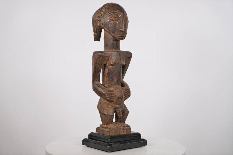 "Great Male Luba Statue 24.5"" on Base - DRC - African Art"