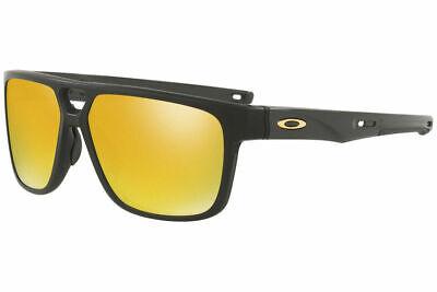 NEW Oakley Crossrange Patch 9382-04 Matte Black 24K Iridium Sunglasses