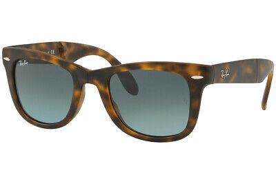 Ray Ban Wayfarer Folding Men Sunglasses RB4105 894/3M 50 Havana / Blue (Ray Ban Wayfarer Folding Blue)