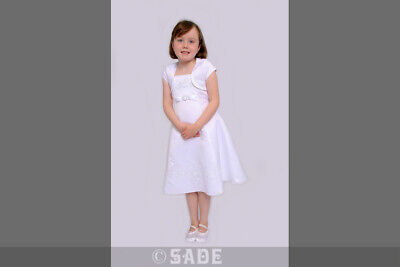 Flower Girl  Dress White  Bridesmaid Christening Party Age 8 Years BNWT Mia](Flower Girl Age)