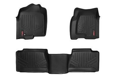 ROUGH COUNTRY FLOOR MATS FRONT/REAR CHEVY GMC 1500 2500HD 3500HD EXT CAB 99-06