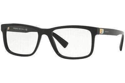 Authentic VERSACE VE3253 - GB1 Eyeglasses Black *NEW*  55mm
