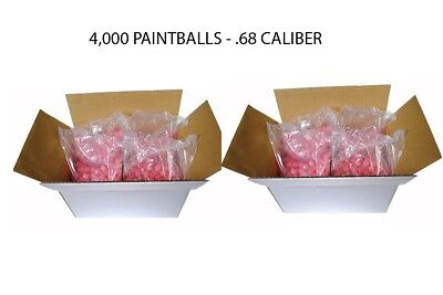 "GI SPORTZ Paintballs 2 Cases - 4000 Rounds - .68 Cal - CLEAR / ""PINK"""