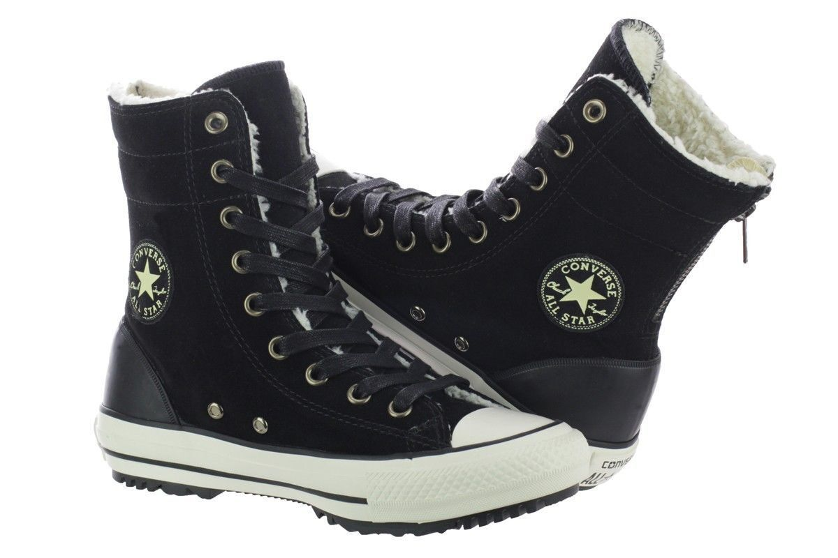 Converse Women's Chuck Taylor All Star Hi Rise Faux Shearling Lined Boots Size 9