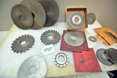 1 Large Lot Of Metal Slitting Saw Blades Inv. 39529