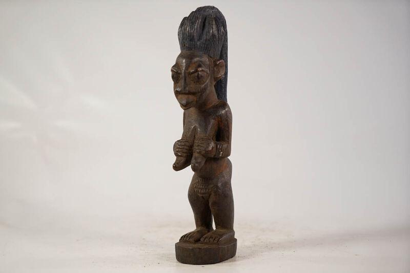 "Yoruba Eshu Female African Figure 11.5"" - Nigeria"