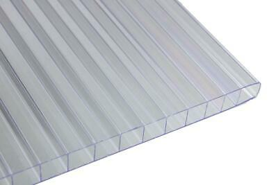 Falken Design Multiwall Polycarbonate Sheet Clear 12x12x6mm Free Cut To Size