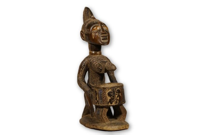 "Yoruba African Female Offering Figure/Statue 23"" - Nigeria"