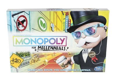 Monopoly for Millennials Board Game |BRAND NEW FACTORY SEALED Hasbro - Hasbro Monopoly Game