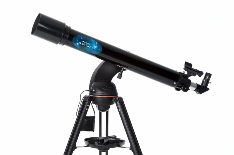 Celestron Astrofi 90 Wi-fi Refractor Wireless Refracting Telescope, Black (22...