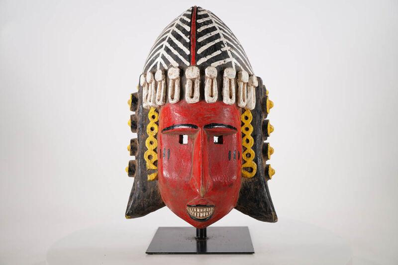 """Colorful Bozo African Mask 17"""" - Mali"""