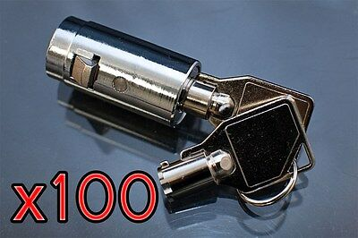 100 Vending Machine Tubular Plug Lock And Keys Coke Pepsi Soda Snack New