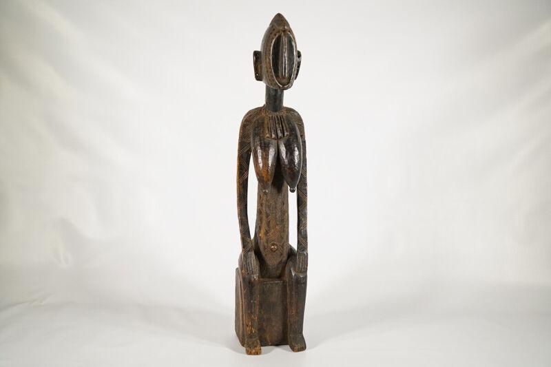 """Beautiful Female Bamana Statue 29"""" - Mali - African Art"""